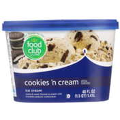 Food Club Cookies 'N Cream Flavored Ice Cream With Chocolate Sandwich Cookie Pieces