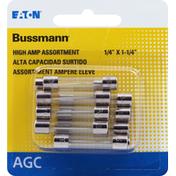 Bussmann Fuses, AGC, High Amp Assortment