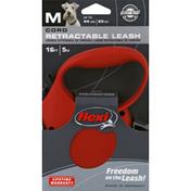 Flexi Leash, Retractable, Cord, Medium, 16 Ft