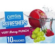 Capri Sun Very Berry Punch Naturally Flavored Juice Drink Blend