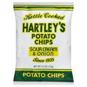 Hartleys Potato Chips, Kettle Cooked, Sour Cream & Onion