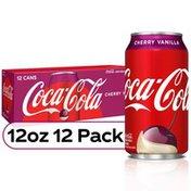 Coca-Cola Cherry Vanilla Flavored Soda Pop Soft DrinkFridge Pack