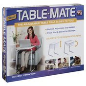 Table Mate Adjustable Table, White
