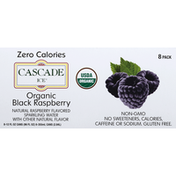Cascade Ice Sparkling Water, Organic, Black Raspberry, 8 Pack