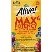 Nature's Way Alive!® Max6 Max Potency Daily Multivitamin (No Iron)