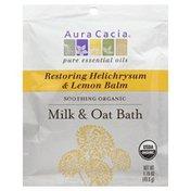 Aura Cacia Milk & Oat Bath, Restoring Helichrysum & Lemon Balm