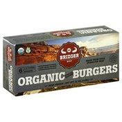 Bridger Burgers, Organic, Beef, 1/3 Pound