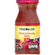 Food Lion Salsa, Thick & Chunky, Hot