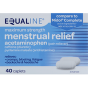 Equaline Menstrual Relief, Maximum Strength
