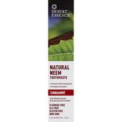Desert Essence Toothpaste, Neem, Cinnamint
