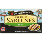 Crown Prince Sardines, Wild Caught, in Oil