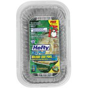"""Hefty EZ Foil 5 3/4 X 3 1/4 X 2"""" Holiday W/Covers Loaf Pans"""