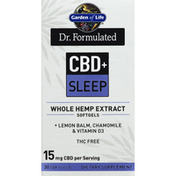 Garden of Life Whole Hemp Extract, CBD + Sleep, Softgels