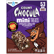 Count Chocula Cereal Bars, Chocolatey, with Marshmallows, Mini Treats, 53 Pack