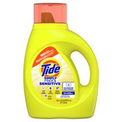 Tide Simply Free & Sensitive Liquid Laundry Detergent, Unscented