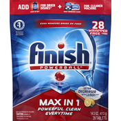 Finish Dishwasher Detergent, Automatic, Max in 1, Tablets