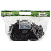 Sunview Grapes, Certified Organic, California, Black Seedless