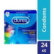 Durex® Pleasure Pack, Assorted Lubricated Premium Condoms
