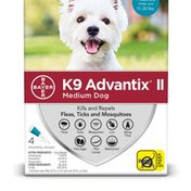 K9 Advantix II 4 Month Medium Dog Teal Flea Treatment
