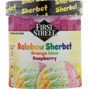 First Street Rainbow Sherbet, Orange, Lime, Raspberry
