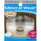 Physicians Formula Loose Powder, Talc-Free, Buff Beige 2452, SPF 16