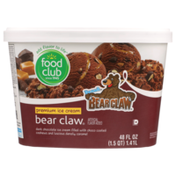 Food Club Denali, Bear Claw Dark Chocolate Premium Ice Cream Filled With Choco Coated Cashews And Luscious Denali Caramel