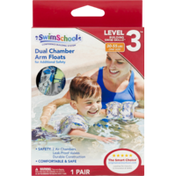 SwimSchool Arm Floats, Dual Chamber, Level 3, One Size, Box