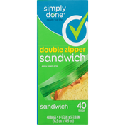 Simply Done Sandwich Bags, Double Zipper