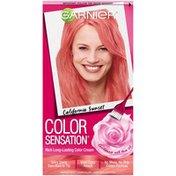 Color Sensation 7.26 California Sunset (Coral Pink) Garnier Color Sensation Rich Long-Lasting Color Cream 7.26 California Sunset