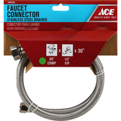 Ace Bakery Faucet Connector, Stainless Steel Braided