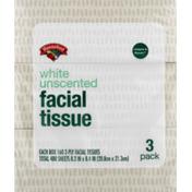 Hannaford Facial Tissue, White, Unscented