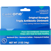 CareOne Antibiotic Ointment, First Aid, Original Strength, Triple