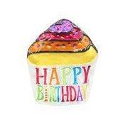 Silvestri Demdaco Happy Birthday Cupcake Shaped Glass Platter Plate