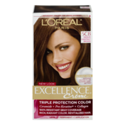 Excellence Permanent Color, Warmer, Medium Chestnut Brown 5CB