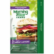 Morning Star Farms Vegan Burgers, Meat Lovers, Made with Non-GMO Soy