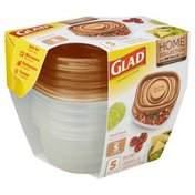 Glad Containers & Lids, Small Snack, Square, 9 Ounce