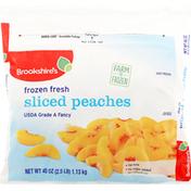 Brookshire's Peaches, Frozen Fresh, Sliced