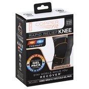 Copper Fit Knee Wrap, Rapid Relief, Adjustable, Unisex