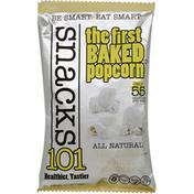 Snacks101 Popcorn, Baked, White Cheddar