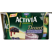 Activia Yogurt, Dessert, Blueberry Cheesecake