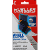 Mueller Ankle Support with Removable Strap, Moderate, Small/Medium