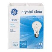 General Electric Crystal Clear Bulb 60w - 2 CT