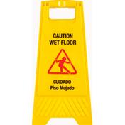 First Street Sign Board, Wet Floor