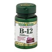 Nature's Bounty Vitamin Microlozenges Sublingual B-12 2500 mcg Natural Cherry Flavor - 50 CT