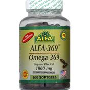 Alfa Omega 369 Flax Oil Softgels