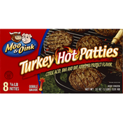 Moo & Oink Turkey Patties, Hot