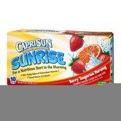 Capri Sun Sunrise Berry Tangerine Morning Juice Pouches- 10 PK