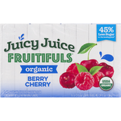 Juicy Juice Juice, Organic, Berry Cherry, 8 Pack