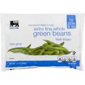 Food Lion Green Beans, Whole, Extra Fine, Bag