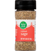 Food Club Sage, Rubbed